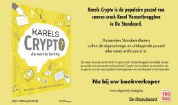 Uitgeverij Vrijdag: advertentie Karels Crypto