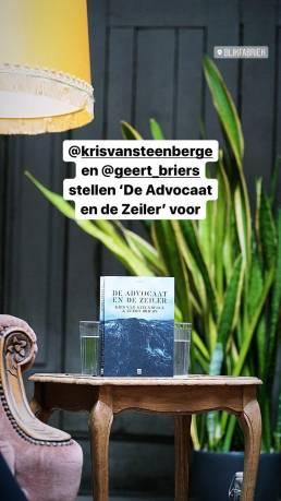 Boekvoorstelling De Advocaat en de Zeiler - Instagram story 1