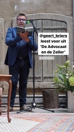 Boekvoorstelling De Advocaat en de Zeiler - Instagram story 3