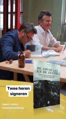 Boekvoorstelling De Advocaat en de Zeiler - Instagram story 5