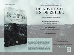 Boekvoorstelling De Advocaat en de Zeiler - Uitnodiging